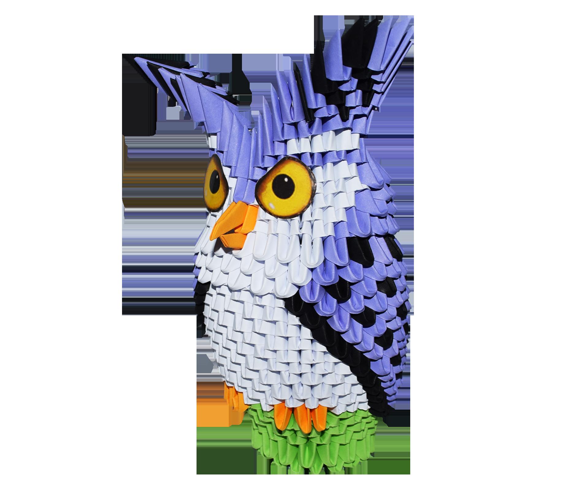 Kit Gufo Kit Owl – 3D Origami - photo#6
