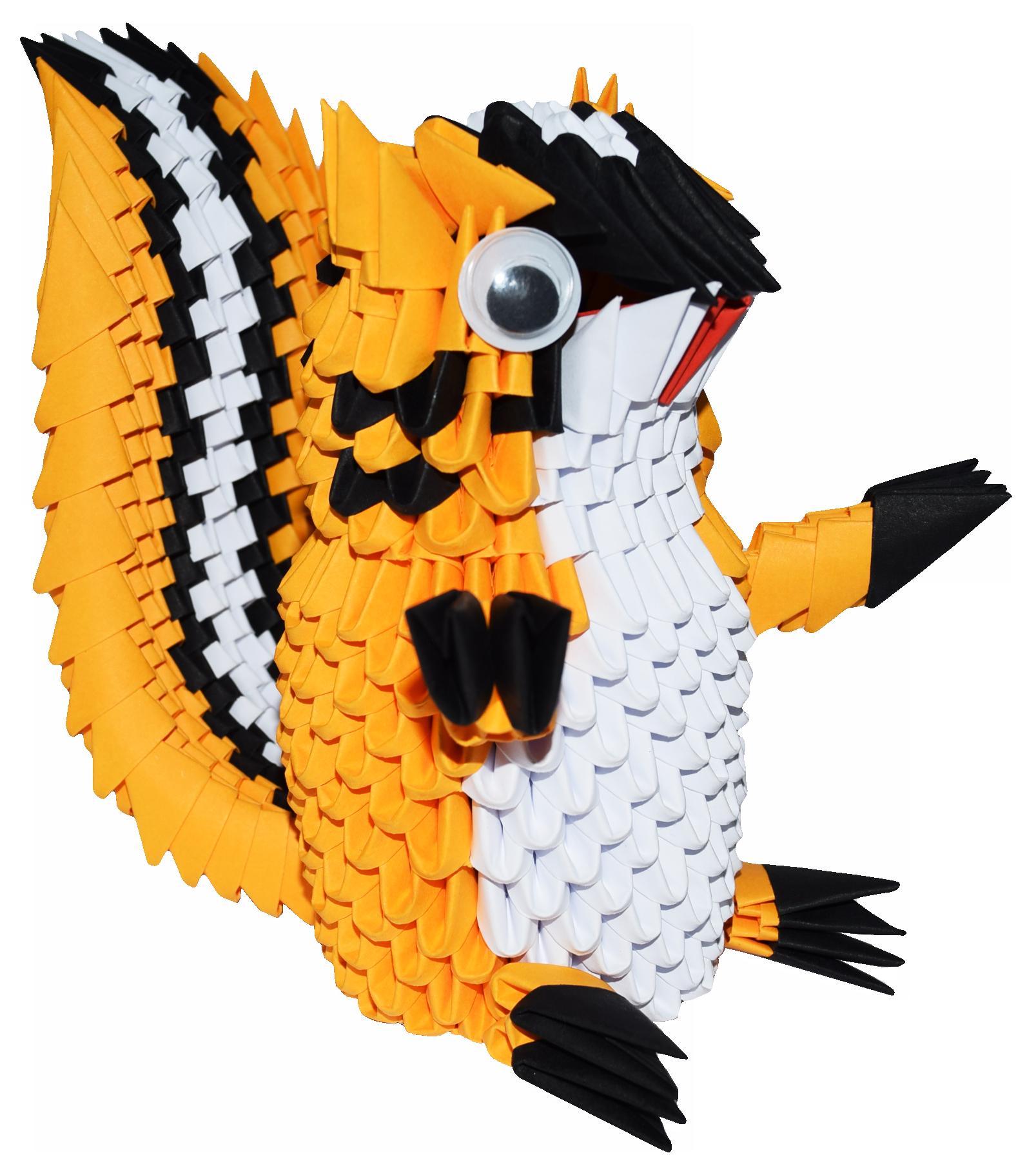 Kit ScoiattoloKit Squirrel – 3D Origami - photo#48
