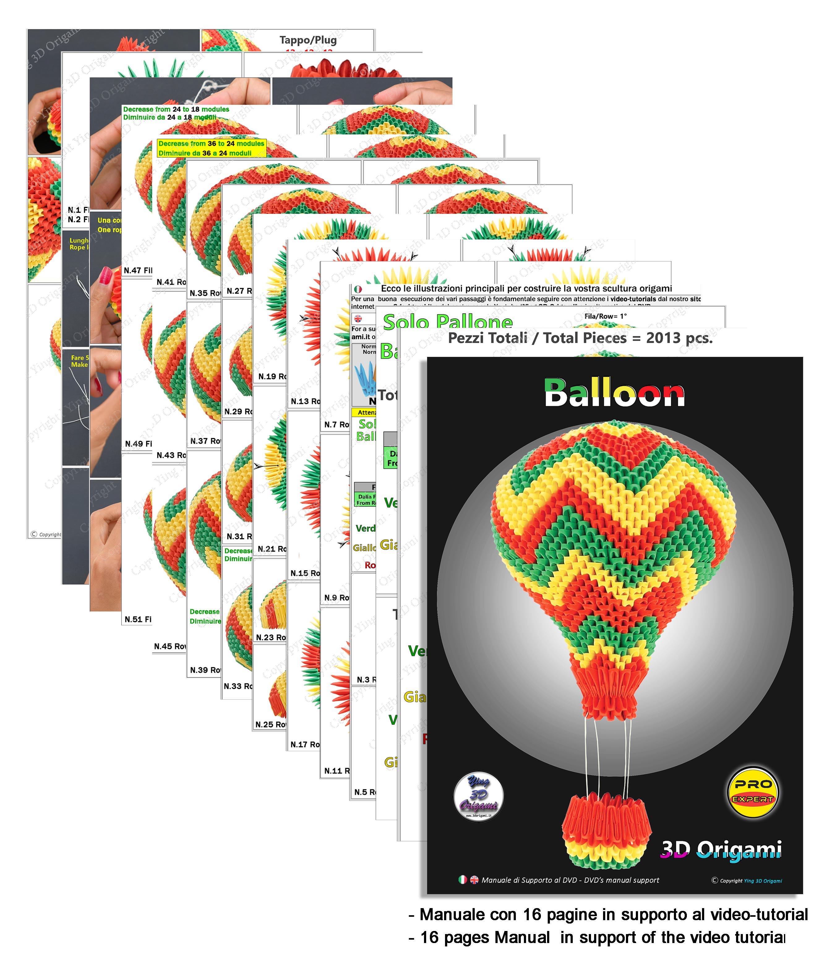 Kit Mongolfiera Kit Balloon – Ying 3D Origami